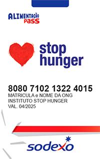 Cartão Alimentação Stop Hunger