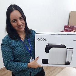 Fabiana de Araújo Barros foi sorteada no Festival do Café da Sodexo