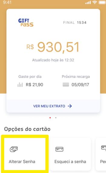 Faça a troca da senha do seu cartão no app da Sodexo