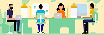 Baixe um infográfico sobre coworking