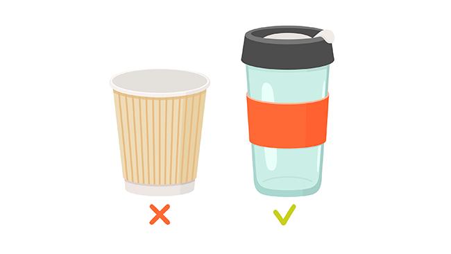 É possível diminuir ou até acabar com o uso de copos descartáveis.
