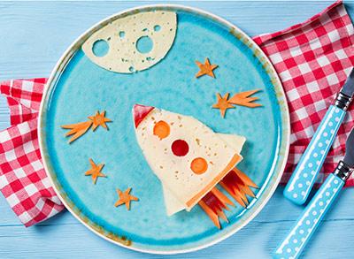 sugestão de prato decorado para crianças