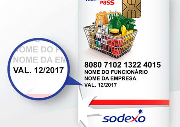 Como saber a data de validade do seu cartão Sodexo