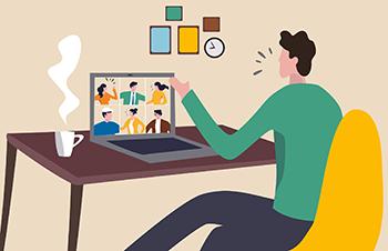 como ser profissional em reuniões online