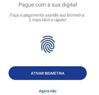 Use a biometria para fazer pagamento com Sodexo