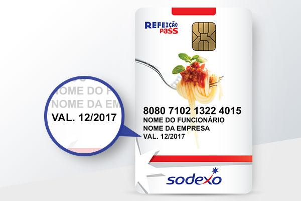 Fique atento à data de validade do seu cartão Sodexo