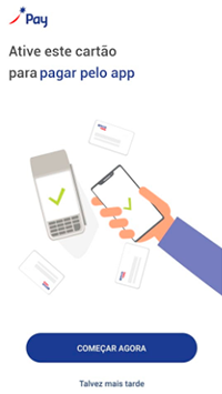 Inicie a configuração do seu celular para aceitar Sodexo