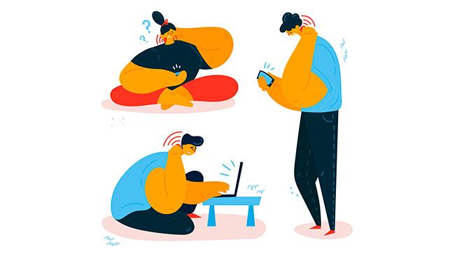 Como não ter dor nas costas trabalhando de casa?