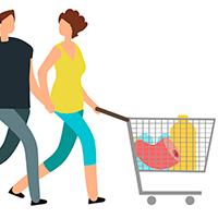 Aprenda a organizar o carrinho de compras para não estragar nada