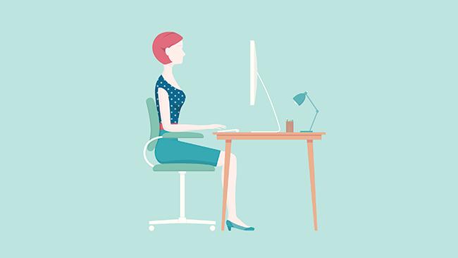 Aprenda a manter a boa postura se trabalha sentado