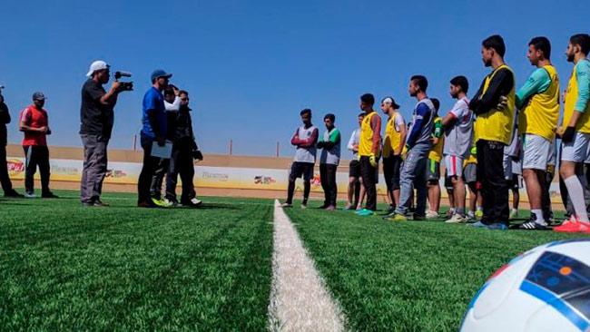 Time de futebol apoiado pela Sodexo busca reforços na sírida