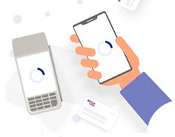 Faça o pagamento por NFC aproximando o seu celular da maquininha
