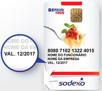 Os cartões Sodexo têm data de validade