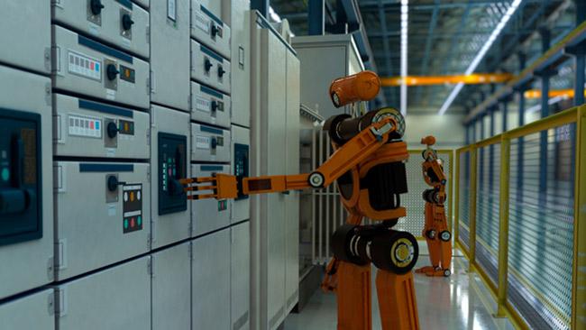 Robôs no ambiente de trabalho
