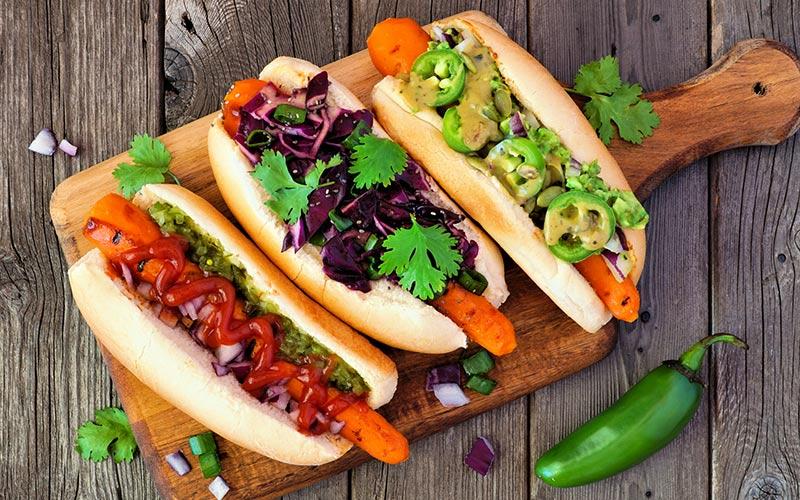 Aprenda a fazer um cachorro quente sem salsicha que é vegetariano