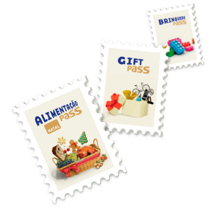 Selos com produtos de natal Sodexo