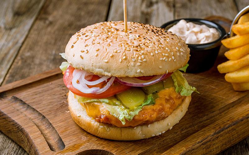Receita de hambúrguer caseiro de frango